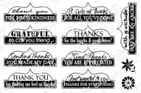 THANK YOU TABS 1 Rubber Stamp Set from the Whimsy Stamps Sentiments Collection