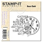 ROSE CLOCK Stamp It Australia Discovery Collection from Crafter's Companion