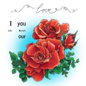 ROSES OF LOVE Rubber Stamp Set from Make It Crafty