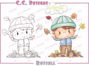 RUSSELL Rubber Stamp from Pollycraft