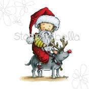 SANTA LOUIS Rubber Stamp by Mo Manning from Stamping Bella