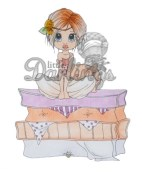 PRINCESS PEANELOPE Rubber Stamp from Saturated Canary