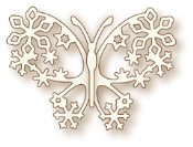 WINTER BUTTERFLY Specialty Craft Die from Wild Rose Studio