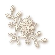 New! POINSETTIA CORNER Specialty Craft Die from Wild Rose Studio