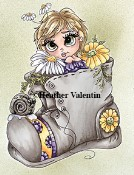 Heather Valentin's SUMMER DAISIES FLOWER POT PRETTIES Rubber Stamp Lacy Sunshine Collection from Sweet Pea Stamps