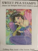 THE SERENE NIGHT Rubber Stamp Ching-Chou Kuik Collection from Sweet Pea Stamps