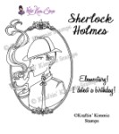 SHERLOCK HOLMES Rubber Stamp Moonlight Whispers Lovely Literature Series by Annie Rodrique from Kraftin Kimmie Stamps