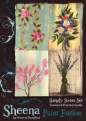 SIMPLY SWEET Stamp Set Sheena Douglass Paint Fushion Collection from Crafter's Companion