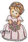 BRIDESMAID SITTING Rubber Stamp from Bildmalarna