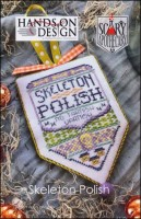 Scary Apothecary Series - SKELETON POLISH - Cross Stitch Pattern by Hands On Design