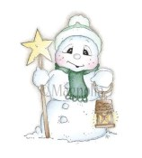 SNOOWIE WITH STAR Rubber Stamp So Snowy Collection from Magnolia