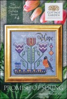 The Songbird's Garden Series - #4 PROMISE OF SPRING Cross Stitch Pattern by Cottage Garden Samplings