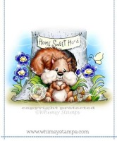 SO NUTS ABOUT HOME Rubber Stamp Crissy Armstrong Collection from Whimsy Stamps