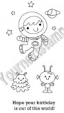 SPACE BOY Rubber Stamp Set Fhiona Designs Collection from Your Next Stamp