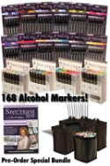 Spectrum Noir Alcohol Markers ALL 168 COLORS - plus 6 FREE GIFTS from Crafter's Companion