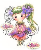 New! SPIDERWORT SPRITE Rubber Stamp Aurora Wings Mitzi Sato-Wiuff Collection from Sweet Pea Stamps