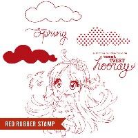 SPRING BLUE BIRDS JENA Rubber Stamp Set from Make It Crafty