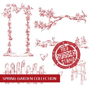 SPRING GARDEN COLLECTION Rubber Stamp Set from Make It Crafty