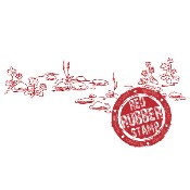 SPRING PEBBLE GROUND Rubber Stamp from Make It Crafty