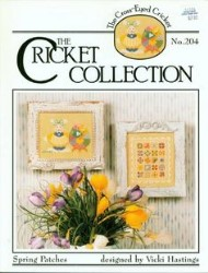 SPRING PATCHES The Cricket Collection Cross Stitch Pattern from the Cross Eyed Cricket