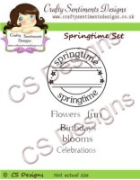 SPRINGTIME CIRCLE SET Rubber Stamp Set from Crafty Sentiments Designs