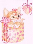 KITTEN HEART Rubber Stamp Karen Middleton Collection from Sweet Pea Stamps