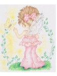 LITTLE PINK FAIRY Rubber Stamp Karen Middleton Collection from Sweet Pea Stamps