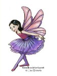 FAIRY CURTSY Rubber Stamp Lisa Victoria Collection from Sweet Pea Stamps