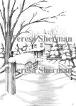 SNOWY MAILBOX Rubber Stamp Teresa Sherman Collection from Sweet Pea Stamps