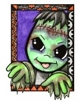 HALLOWEENIES FRANKIE Rubber Stamp Teresa Sherman Collection from Sweet Pea Stamps