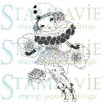 MADEMOISELLE PIERROT Clear Stamp Anne Cresci Collection from Stampavie