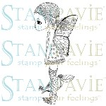 LA FEE PAPILLETTE Clear Stamp Anne Cresci Collection from Stampavie