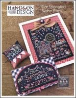 Farm House Chalk Series - STAR SPANGLED SWINE FARM Cross Stitch Pattern from Hands On Design