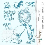 STYLISH FRIENDS Clear Stamp Set from Tiddly Inks