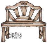 GARDEN BENCH Rubber Stamp from Bildmalarna