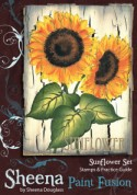 SUNFLOWER Stamp Set Sheena Douglass Paint Fushion Collection from Crafter's Companion