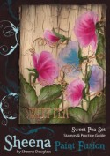 SWEET PEA Stamp Set Sheena Douglass Paint Fushion Collection from Crafter's Companion