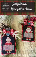 JOLLY CLAUS & MERRY MRS. CLAUS Cross Stitch Chart from Stitching With The Housewives