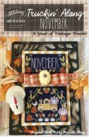 Truckin' Along A Year of Vintage Trucks Series NOVEMBER Cross Stitch Chart from Stitching With the Housewives