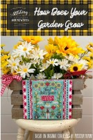 HOW DOES YOUR GARDEN GROW Cross Stitch Chart from Stitching With The Housewives