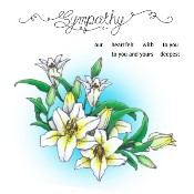 SYMPATHY LILIES Rubber Stamp Set from Make It Crafty