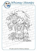 LOMASI - PRETTY FLOWER Rubber Stamp Wee Stamps Collection from Whimsy Stamps