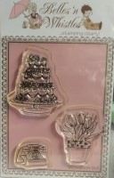 TABLE ACCESSORIES Clear Stamp Set Elisabeth Bell Designs from Belles 'N Whistles