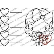 New! TGF COLOR COMBO STAMP Rubber Stamp Anya & Ian Collection from The Greeting Farm