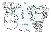 HAPPY DAY Rubber Stamp Set Oliver & Amelia Collection from The Greeting Farm