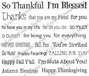 THANKFUL SENTIMENTS Rubber Stamp Set from Kraftin Kimmie Stamps