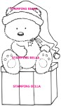 THEO GIVES A PREZZIE Rubber Stamp Tiddly Inks Collection from Stamping Bella