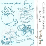 TREASURED FRIEND Clear Stamp Set from Tiddly Inks