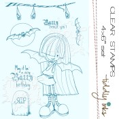 **REORDER** BATTY FOR YOU Clear Stamp Set from Tiddly Inks