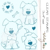 DOG DAYS Clear Stamp Set from Tiddly Inks
